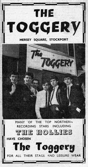 The Toggery, Stockport, 1960s