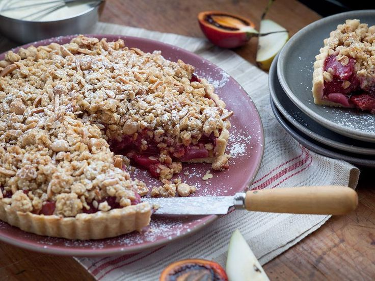 Tamarillo and Pear Crumble Tart Recipe - Try Angela Casley's crumble for a…