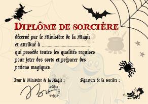 diplôme de sorcière