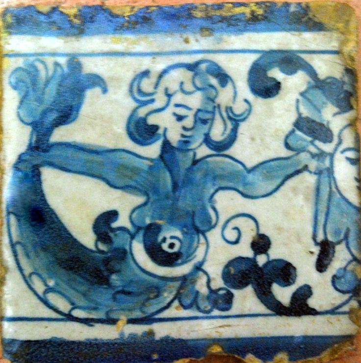 sereia :Azulejo de friso -Portugal