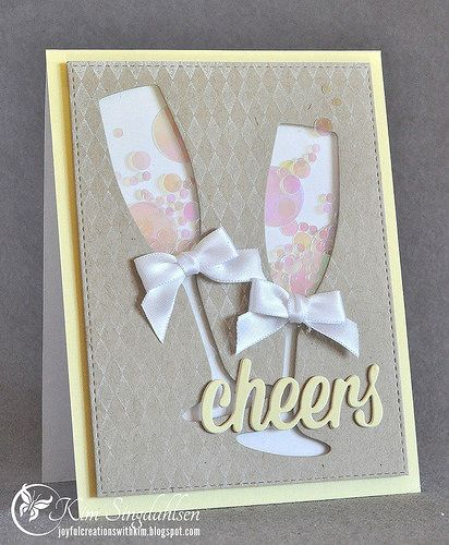 Cheers - using products from My Favorite Things and some beautiful confetti