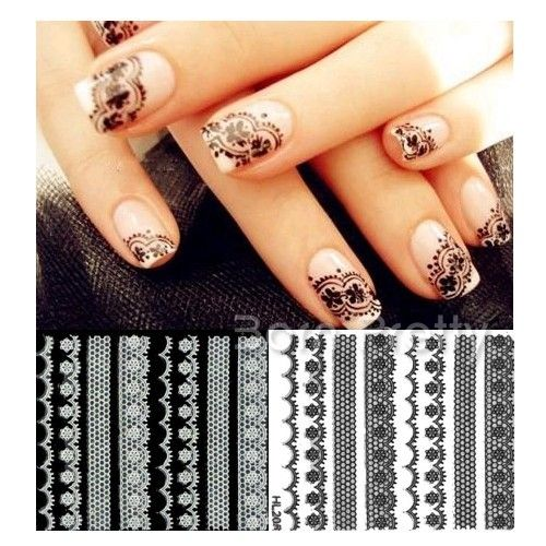 I find an excellent product on @BornPrettyStore, 1pc Elegant Black White Lace Style 3D Sticker... at USD $1.99. http://www.bornprettystore.com/-p-7381.html