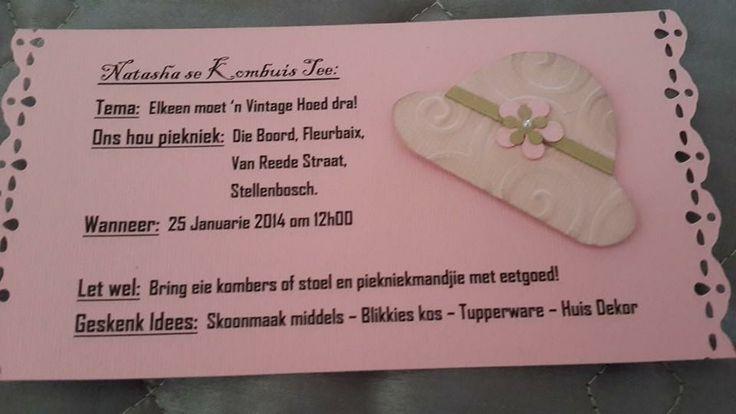 Vintage Kitchen Tea Invite - Vintage Kombuistee - Order: Facebook Page - Alice's Creations1