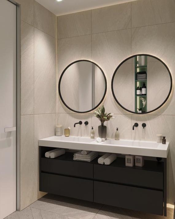 43+ Black round mirror cabinet diy