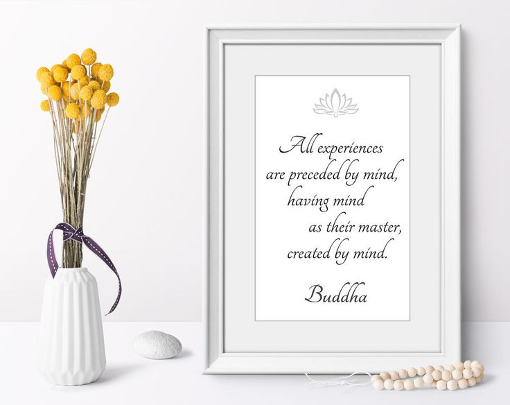Buddha quotes wall art poster minimalist art print modern home decor on demand #Minimalism