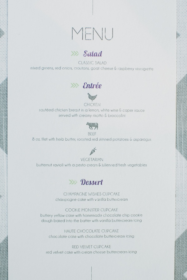 Menu designed by us :)