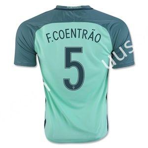 2016 European Cup Portugal F.COENTRAO Away Green Thailand Soccer Jersey AAA