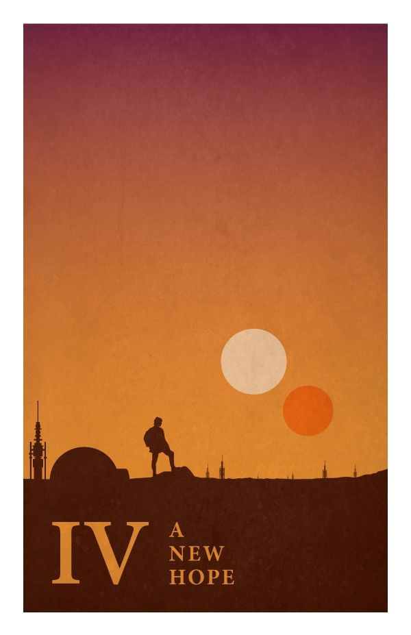 Silhouette Star Wars Poster