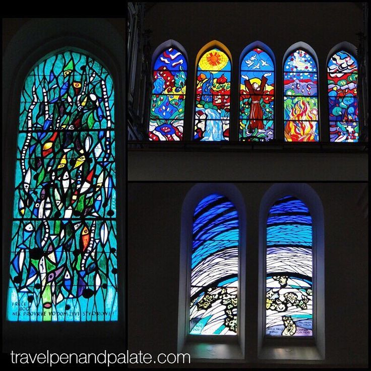 The impressive stained glass windows in the current and 3rd Franciscan Church of St. Anthony of Padua (1912) were designed by renowned Bosnian painter Ivo Dulcic & although damaged during the siege of #Sarajevo (1992-1995) were restored. #bosniaerzegovina #culturaltourism #travelwriter #europe2017 #balkans #catholicchurches #stainedglass #religiousart @ifwtwa1