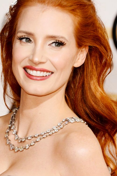 Jessica Chastain attending the 71st Annual Golden Globe Awards, held at the Beverly Hilton Hotel on January 12, 2014