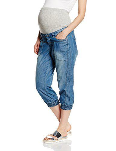 MAMALICIOUS Damen Umstands Shorts Mlanja Knickers N, Blau (Medium Blue Denim), 40 (Herstellergr��e: L)
