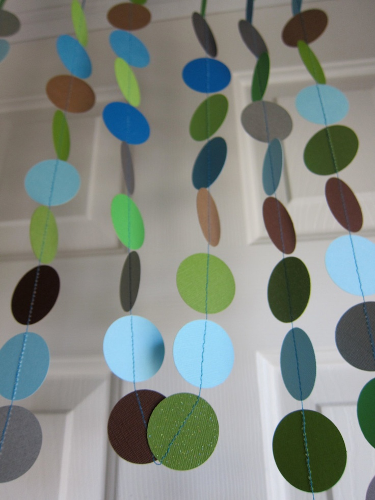 Paper Garland, Baby Boy Shower Decorations, (DIY it)