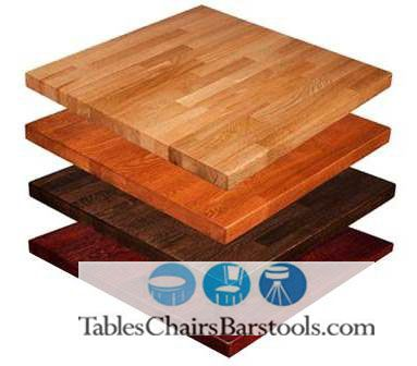 Square, Thick Amish Built Solid Beech Wood Butcher Block Commercial Table  Top W/ Choice Of Stain Finish   This Square Butcher Block Table.