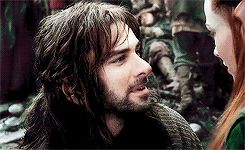 (gif) - Kili trying to seduce Tauriel.