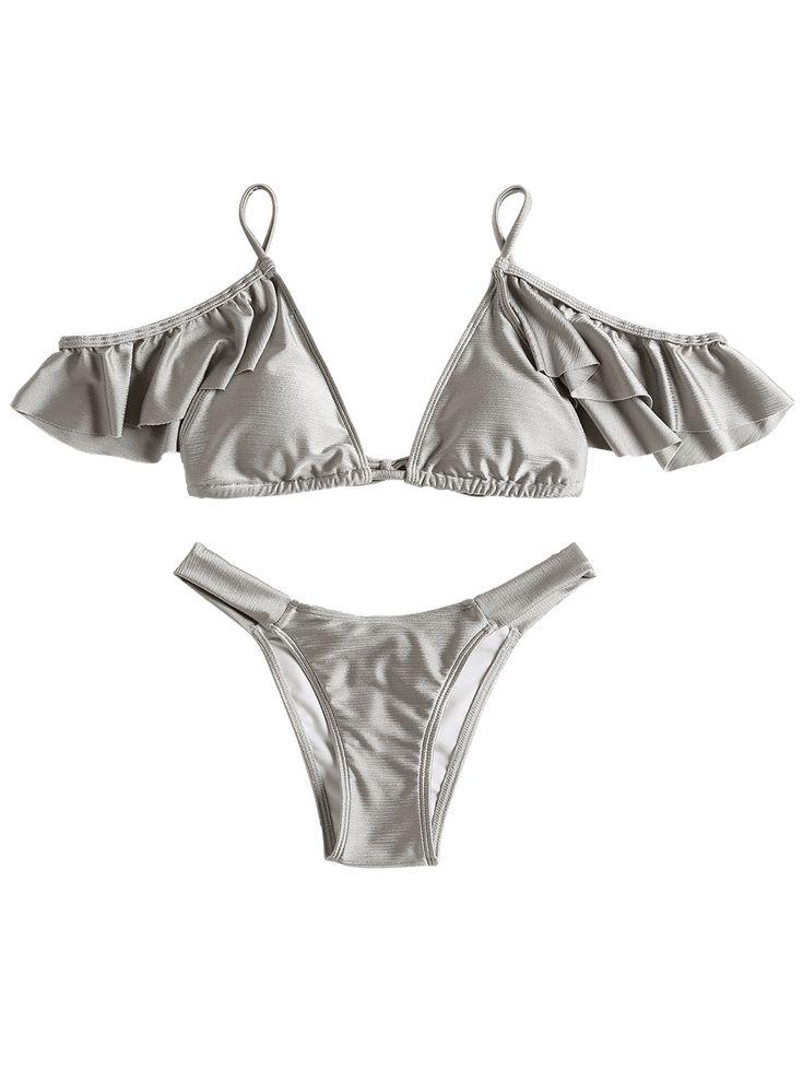 Cami Cold Shoulder Flounce Bathing Suit