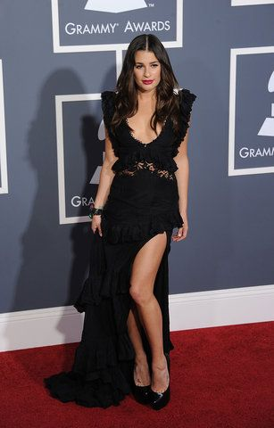 / Pin curated by Pretty Planner Weddings  & Events www.prettyplannerweddings.com / Lea Michele and 11 other of the Grammys best red carpet dresses of all time.