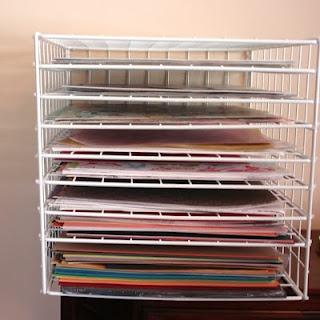 art drying rack: Storage Solutions, Diy Art, Scrapbook Paper, Classroom Organizations, Art Dry, Paper Storage, Summer Bucket, Organizations Paper, Storage Ideas
