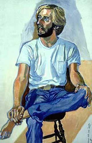 Alice Neel  1977 Stephen Schaffer Oil on Canvas 46 x 30 inches / 116.8 x 76.2 cm Bates College, Lewiston, Maine