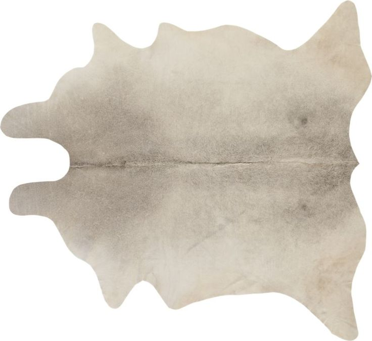"""natural hideout.  Sustainably-sourced grey cowhide from Argentina naturally layers on one-of-a-kind texture and warmth.  Each hide will be unique in size, shape and tones. How will it look in your room? 12""""x12"""" rug samples are available in stores for a fee refundable upon return of the sample. 100% cowhide; each will be uniqueAll surface rug pad recommendedVacuum regularly with head set for hardwood floorsMade in Argentina."""