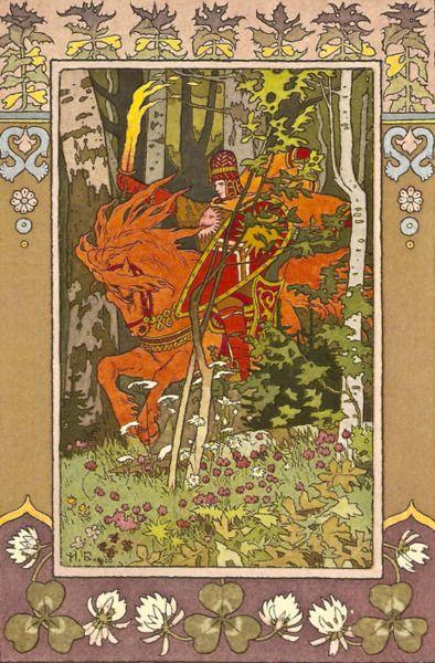 Ivan Yakovlevich Bilibin. The Red Horseman from Vasilisa the Beautiful, 1899