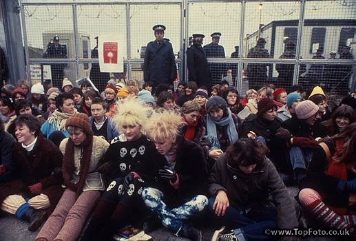 Greenham Common Women Protesters, 1980s. Although not as affected by it as maybe Hilary was, Frances attended the Greenham Common Protest.