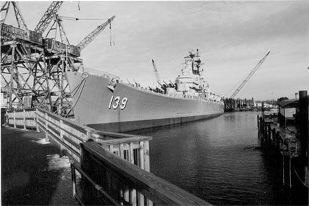 USS Salem CA-139 - (Des Moines-class heavy cruiser) commissioned Boston Naval Yard 1949; now the centerpiece of the United States Naval and Shipbuilding Museum, Quincy MA