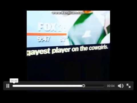 "Aired on Houston tv station as a news ticker on the bottom of the screen,  a fan tweet response to the announcement that Houston had signed Michael Sam, the first openly gay player ever to be drafted into the NFL, and he had joined the Cowboys practice squad after being cut by the St Louis Rams.  ""Michael Sam signed to join Cowboys? Tony Romo, still the gayest player on the cowgirls."""