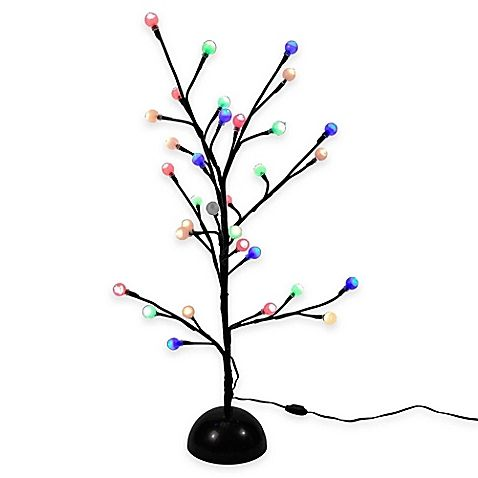 Great  d cor in beautiful color with the Kurt Adler Pre Lit Gumball Brown Twig Christmas Tree A twig tree design is adorned with multicolored LED lights for a