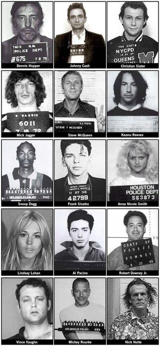 Famous mugshots....I was surprised by some of these lol