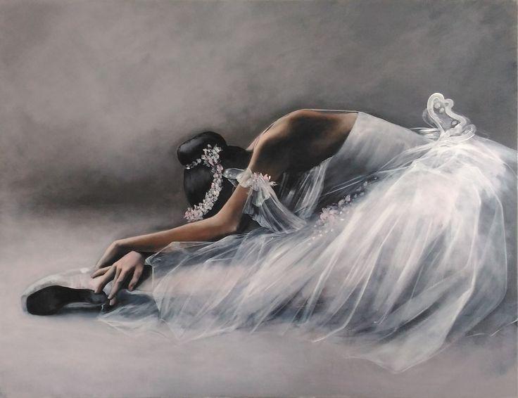 Ballerina painting Agata Mikulska-Sienkiewicz, acryl on canvas 100c130 cm