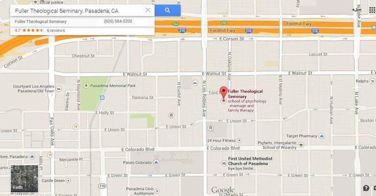 map of Fuller Theological Seminary - Pasadena, California
