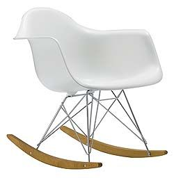 Eames® Molded Plastic Rocker - RAR  Designed by Charles and Ray Eames for Herman Miller®    A classic...