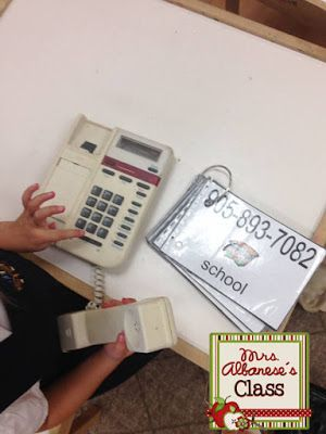 Using the phone book at the Dramatic Play Center...FREE download!