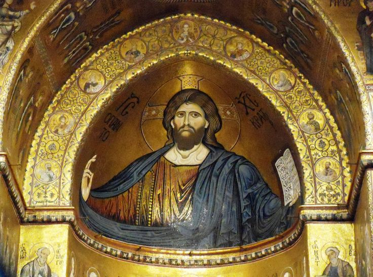 Cathedral of Monreale, mosaic of Christ Pantocrator
