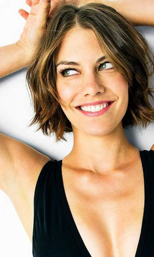 Lauren Cohan Short Bob Hairstyle'http://tomybsalon.com/best-long-isalnd-haircut/