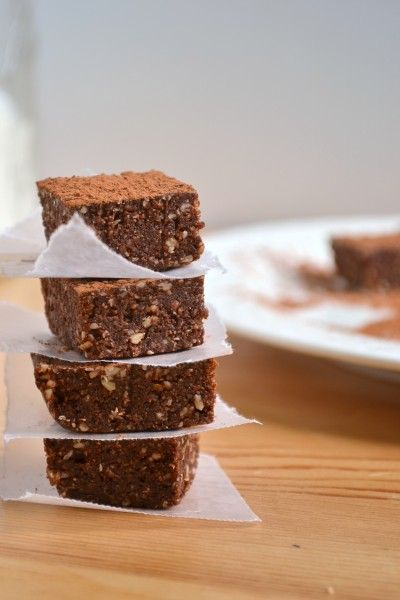Raw Vegan Brownies - I changed up just a bit by using cashews and pecans instead of almonds.  Very yummy and super quick and easy to make.