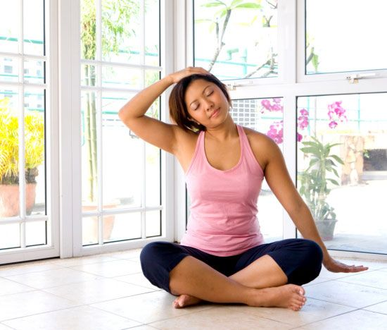 """""""Yoga Poses For Headaches"""" Worth a try considering I get them almost daily."""