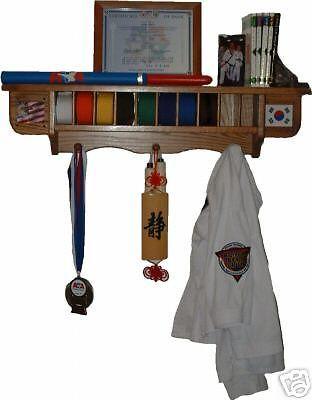 TaeKwonDo Belt and weapon display shelf martial art