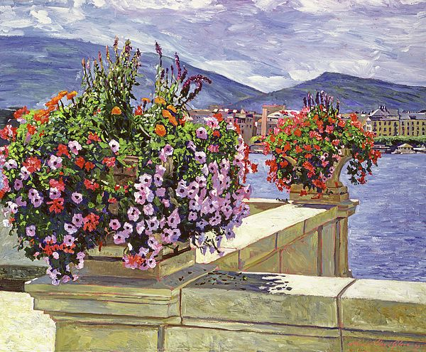 Lake Geneva By David Lloyd Glover Pop Art Images Beauty Paintings Impressionist Paintings Acrylic