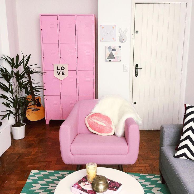 Die besten 25+ Decoração sala rosa Ideen auf Pinterest Clean - wohnzimmer grau rosa