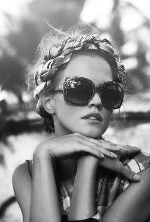 Porter le #foulard en couronne de #cheveux