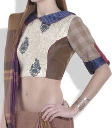 Buy maroon jaquard silk blouse blouse online