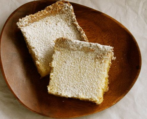 Kick Of Lemon: Coconut Shortbread Lemongrass Bars - Honest Cooking