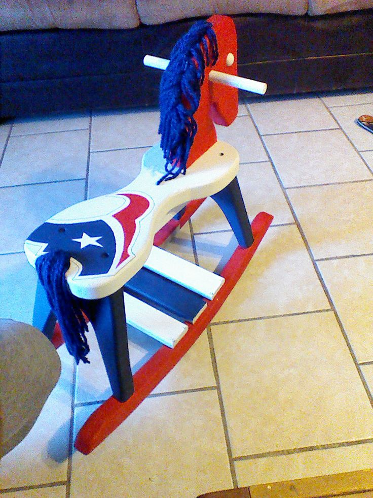 Houston Texans Rocking Horse! Omgeez I so need this for my baby girl! Where Can I Get one????