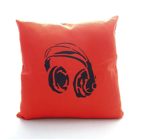 Gift For A Music Lover  Red Cushion Cover by LovelyHandmadeGifts, £10.00