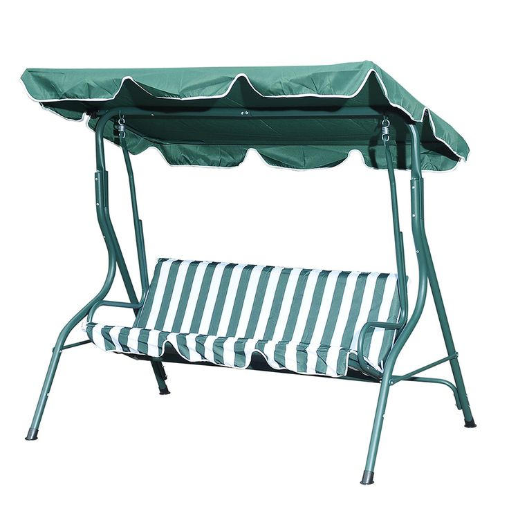 Sunjoy 3-Seat Steel Traditional Porch Swing