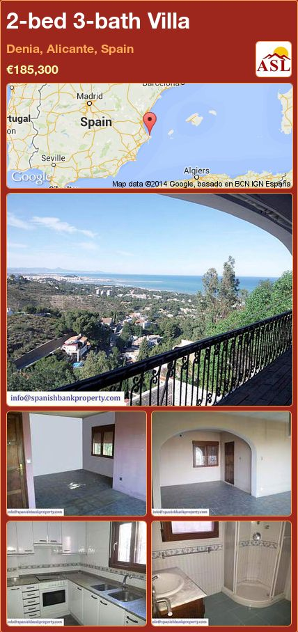 2-bed 3-bath Villa in Denia, Alicante, Spain ►€185,300 #PropertyForSaleInSpain