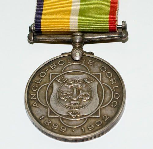 Boer War - Silver; Anglo-Boer War Medal 1899-1902 Burger A J Willemse