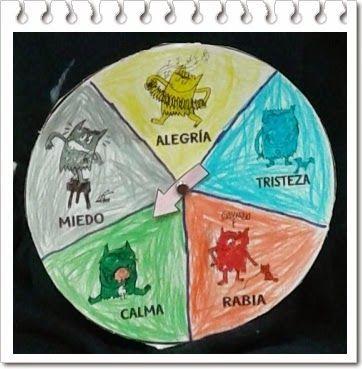 #aprendejugando con El monstruo de Colores y la ruleta de las emociones