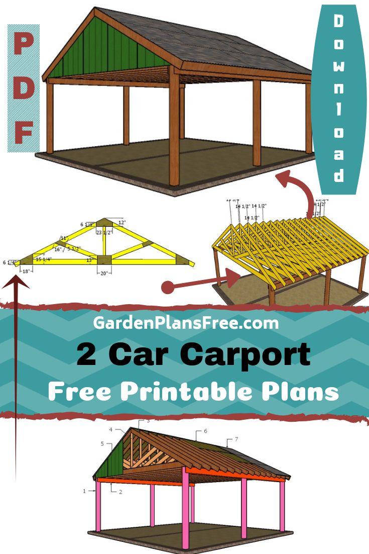 2 Car Carport Plans Carport plans, 2 car carport, Carport